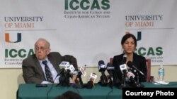Rosa María Payá en Conferencia de Prensa UM Miami ICCAS