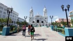 El parque Carlos Manuel de Céspedes en Santiago de Cuba (Cuba).