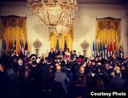 Donald Trump celebra el Mes de la Herencia Hispana en la Casa Blanca