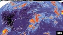 Mapa con la actividad ciclónica