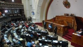 Vista general de los legisladores en La Asamblea Nacional de Venezuela