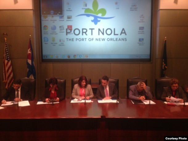 Delegación cubana en New Orleans.