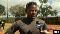 Andy Ibáñez, pelotero de los Rangers de Texas.