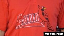 Camiseta de los Cardenales de Lara.
