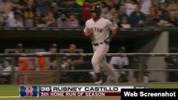 Rusney Castillo, quinto jonrón de la temporada.