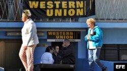 Oficina de Western Union en La Habana. Archivo.