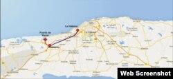 Trazado de la nueva línea férrea entre La Habana y Mariel.