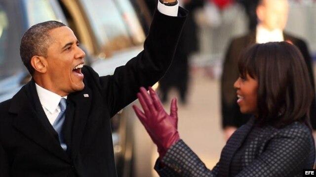 El presidente y su esposa Michelle