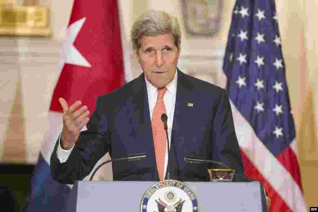 El secretario de Estado de EEUU, John Kerry.