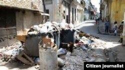 Acumulación de Basura en el municipio Boyeros