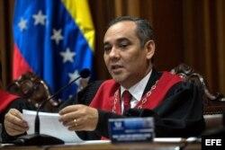 El presidente del Tribunal Supremo de Justicia de Venezuela (TSJ), el magistrado Maickel Moreno.