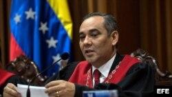 El presidente del Tribunal Supremo de Justicia de Venezuela (TSJ), el magistrado oficialista Maikel Moreno. (Archivo)