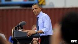 El presidente de Estados Unidos, Barack Obama, en Cartagena, Colombia. EFE/BRIAN BLANCO