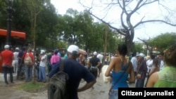Protesta ciudadana en Parque La Fraternidad de Centro Habana