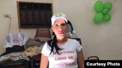 Aylin Cruz, opositora cubana que acaba de solicitar asilo político en la frontera de EEUU con México