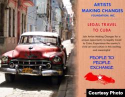 Itinerarios programados. Los estadounidenses sólo pueden participar en Cuba en programas dirigidos.