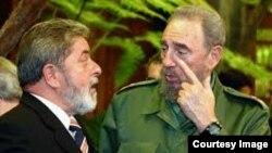 Luis Inácio Lula da Silva y Fidel Castro, en mejores tiempos para ambos.