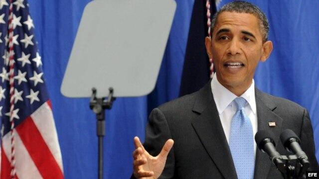Foto de archivo. El presidente Obama pronuncia un discurso sobre la reforma migratoria, en la Facultad de la Universidad Americana, en Washington, en julio de 2010