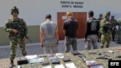 El ejército ya capturó a cuatro guerrilleros del ELN relacionados con otro secuestro el mes pasado en una zona minera del norte de Colombia.