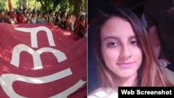 La estudiante de periodismo Karla María Pérez González fue expulsada de la universidad por sus vinculos con el movimiento opositor Somos+.
