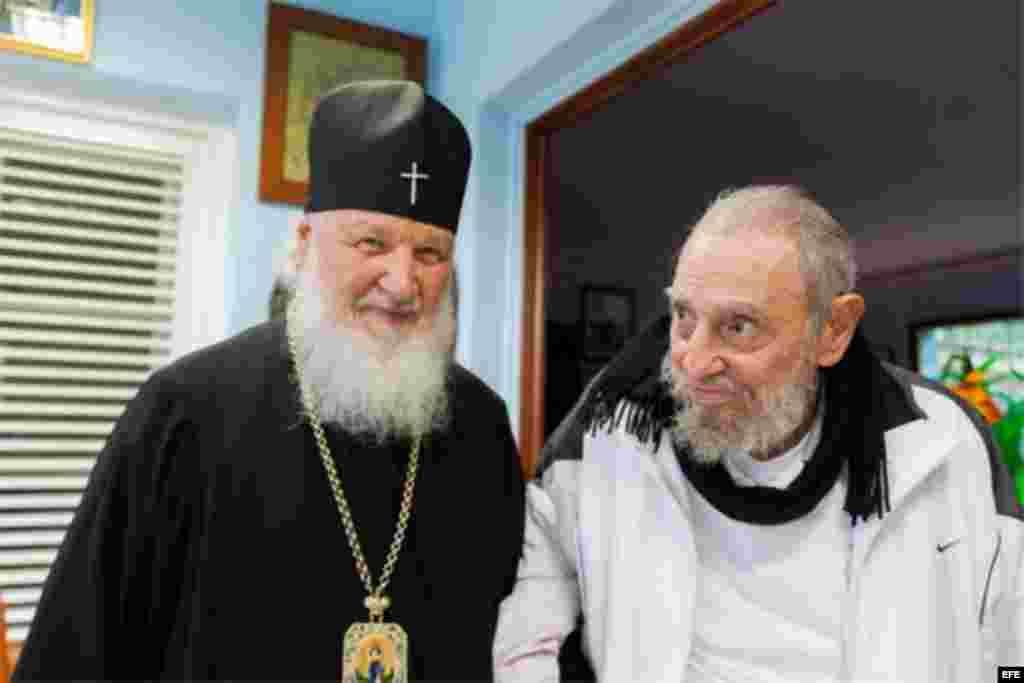 Encuentro del Patriarca Kiril con Fidel Castro en La Habana.