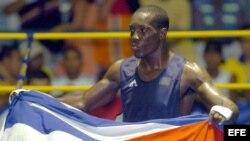 El boxeador cubano Jordany Despaigne, ganador de la medalla de oro en los 75 kg de los XX Juegos Centroamericanos y del Caribe en 2006.