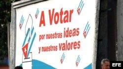 Cuba: propaganda electoral. Archivo