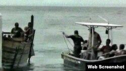 Balseros interceptados en el Caribe hondureño. (Instituto Nacional de Migración)