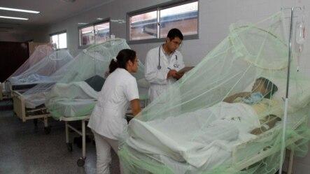 Foto de archivo. Un grupo de pacientes que padecen dengue permanecen internados en un hospital.