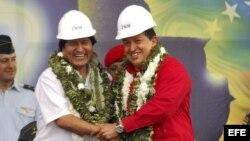 Evo Morales y Chávez firmaron acuerdos entre la Empresa Nacional de Electricidad (ENDE), de Bolivia, y la estatal de petróleos de Venezuela (PDVSA