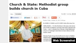 El pastor Doug Hinchcliff, de la iglesia Wesley United Methodist Church, en Harlingen, Texas.