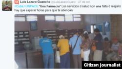 Reporta Cuba. Farmacias. Foto: @LuisLazaroGuanch.