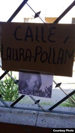 Nombran calle Laura Pollán, en homenaje a la fallecida líder.