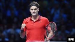 Roger Federer, seis veces ganador del Master de la ATP en Londres.