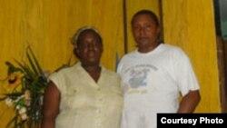 Sonia Garro junto a su esposo Ramón, antes del encarcelamiento de ambos.