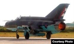 """Armas """"obsoletas"""": MiG 21 BIS, base de San Antonio de los Baños (foto Cuba al Descubierto)"""