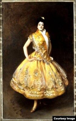 """Carmencita"", en otro retrato pintado por John Singer Sargent."