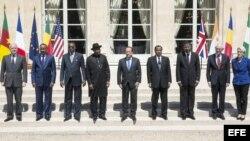 Cumbre en París por seguridad en Nigeria, con los presidentes de Benín, Chad, Camerún y Niger