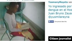 Reporta Cuba. Ingreso de Yosmany Mayeta.