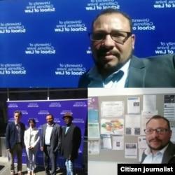 Activistas cubanos durante su participación en panel en California