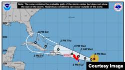 Irma, categoría 4 de huracanes.