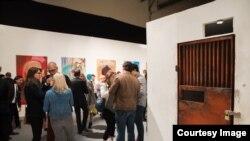 Réplica de celda en exposición realizada por Danilo Maldonado en San Francisco.
