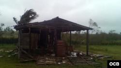 Paso de Irma por Encrucijada, Villa Clara