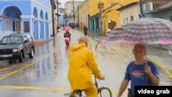 """En lugares de Sancti Spiritus se han registrado hasta 300 milímetros de lluvias asociadas a la tormenta """"Alberto""""."""