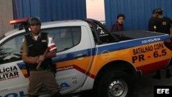 Foto de archivo de un policía brasileño.