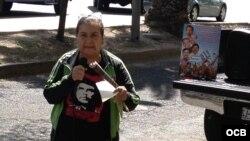 Protesta de simpatizantes del gobierno cubano