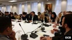 Reunión en la OEA de Freedom House y la Red Latinoamericana de Jóvenes por la Democracia.