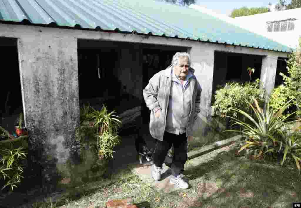 José Mujica, en su casa en una zona rural de Montevideo (Uruguay).