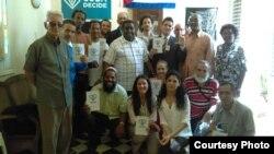 Participantes en la ceremonia de entrega del Premio Payá