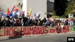 Apoyo a Cuba en España